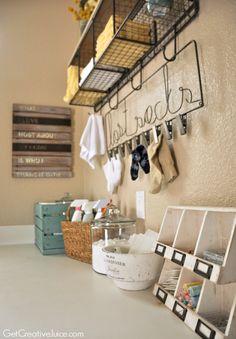 Laundry Room Organization and Storage Ideas - Creative Juice