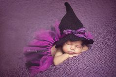 Baby Witch Hat and Tutu Set, Halloween