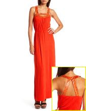 Juicy orange summer dress