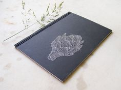 Artichoke. Embroidered A5 Notebook by FabulousCatPapers