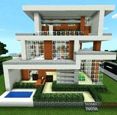 Die 100+ besten Bilder zu Minecraft haus bauplan | minecraft