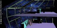 A space ship bridge scene by 3ds Max
