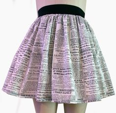Newspaper Full Skirt by GoFollowRabbits