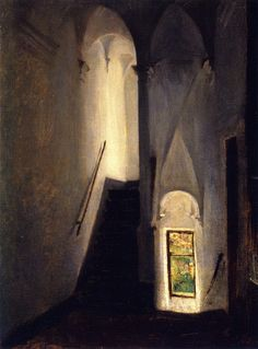 birdsong217:  John Singer Sargent (American, 1856-1925) Staircase, c1878-1880. Oil on Canvas