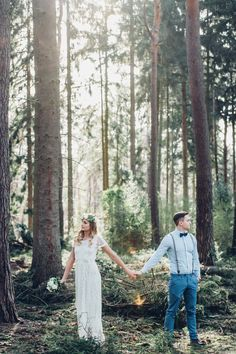 After wedding shooting kreativ wedding hippie vintage beautiful light couple weddingblog weddingphotography videography forest trees