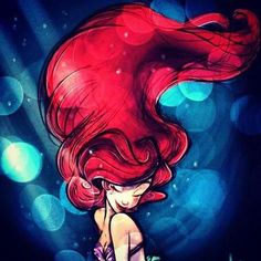 The little mermaid watercolor