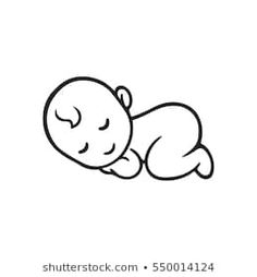 Sleeping baby silhouette, stylized line logo. Mom Baby Tattoo, Baby Tattoos, Baby Silhouette, Easy Disney Drawings, Easy Drawings, Baby Drawing Easy, Pencil Art Love, Indian Art Gallery, Mom Dad Baby
