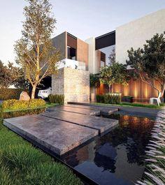 "18.5k Likes, 37 Comments - Amazing Architecture (@amazing.architecture) on Instagram: ""Casa BF by  @aro.estudio #mexico  #archiviz  www.amazingarchitecture.com ✔️ #amazingarchitecture…"""