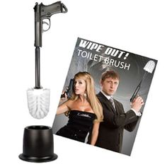 Hoobbe Wipe Out Toilet Brush novelty bathroom accessory | Menkind