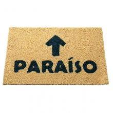 Capacho com Arte - Retangular - Fibra de PVC - Paraíso - 40 X 60cm