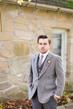 Rustic vintage groom