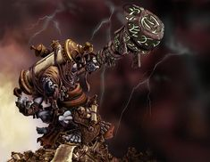 Trollbloods Art   http://cwalton73.deviantart.com/art/Doomshaper-Color-Concept-103909435