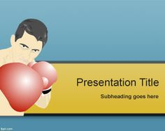 Boxing PowerPoint Template is a free sport slide for PowerPoint presentations that you can download if you need to make a presentation on boxing and sports