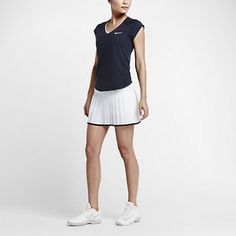Shop Now - >  https://api.shopstyle.com/action/apiVisitRetailer?id=506736672&pid=uid6996-25233114-59 NikeCourt Victory Women's Tennis Skirt  ...