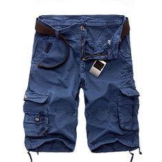 Cargo Shorts Men Cool Camouflage Cotton Casual Men Short Pants