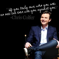 Chris Colfer. It's been a while since i've seen Glee, but i honestly think this guy is such a lovely voice for the generation.