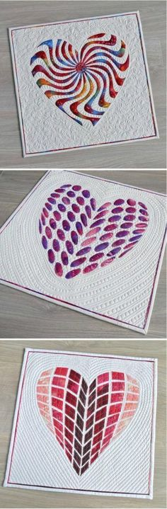 Applique Heart Quilts