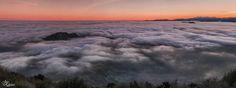 Por encima del mar de nubes (Panoramica de 6 verticales)