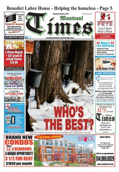 Montreal Times 22 46 March 4 2017 March 4, Helping The Homeless, Wine Recipes, Montreal, Catering, Vegetarian, Times, Gastronomia