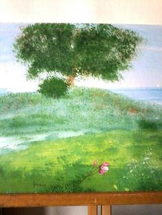 La grande quercia.acq.su cartoncino.