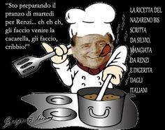 Berlusconi cuoco per Renzi