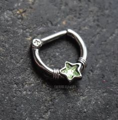 You will receive one septum ring per purchase. Gauge: thick Piercing Barbell: Diameter: tall (the star goes into the diameter space so it is not a true little more snug if you like due to the star) Materials: surgical steel barbell and design. Septum Nose Rings, Nose Piercing Jewelry, Barbell Piercing, Septum Clicker, Triple Helix, Labret, Body Jewelry, Opal, Fashion Accessories