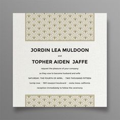 Wallpaper #Wedding #Invitation #Stationary Suite #Customizable by WeddingsByCarue on Etsy #vintage #glamour #gold