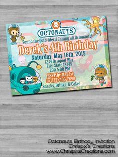 #Octonauts #birthday #invitation #invite #personalized #custom #etsy #ChrispixsCreations