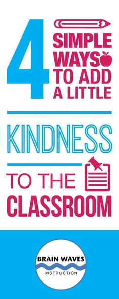 Kindness in the Classroom Read all about 4 simple ways to promote a culture of caring in your classroom! Plus find a link to a FREEBIE filled with resources to help you and your students spread a little kindness! Future Classroom, School Classroom, Classroom Ideas, Classroom Behaviour, Classroom Discipline, Behavior Interventions, Classroom Design, Classroom Inspiration, Google Classroom