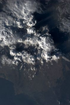 Evening storms on the Arabian Sea coast of Pakistan. Taken October 12, 2013. KN from space.