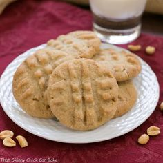 "Look no further for the BEST Classic Peanut Butter Cookies. With just the right ""snap"" and texture from extra crunchy peanut butter"
