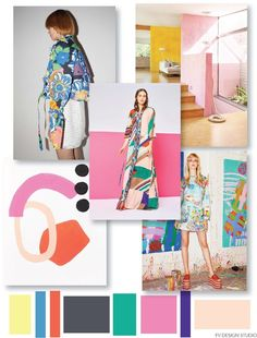 FASHION VIGNETTE: FV TREND x COLOR | WOMENS - 70'S ABSTRACT + FLORAL...