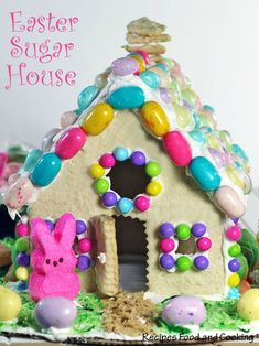 Easter Sugar House. Instead of a gingerbread house make this sugar house for an Easter activity.
