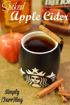 Relax with a warm cup of spiked apple cider.might be the only time I actually DONT MIND  a little fireball