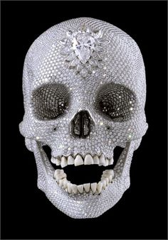 For the Love of God, human skull covered in diamonds by Damien Hirst