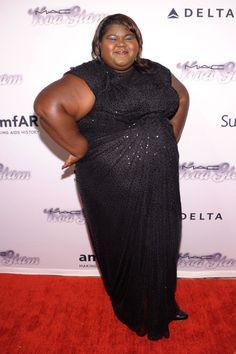 Gabby Sidibe (red carpet, celebs, black sequins dress, self love, self acceptance, fatspo, self image, body love, body positive, fatspiration, plus size fatshion, fashion)