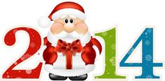 2014 with Santa Claus Large PNG Clipart