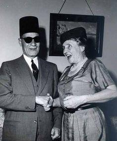Taha Hussain with Hellen Keller