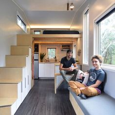"""Shedsistence - One of the best tiny houses I've seen. Includes an externally accessable """"garage"""" and yet still maintains the same footprint and seems HUGE"""