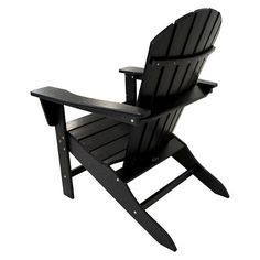 Polywood South Beach Patio Adirondack Chair - Black