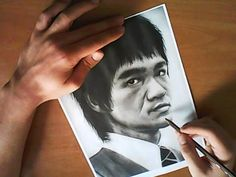 Bruce Lee pencil speed drawing - YouTube
