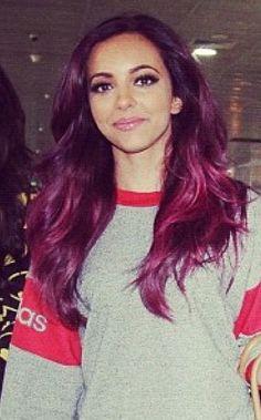 Purple hair - Little Mix Burgundy Hair, Purple Hair, Red Hair, Funky Hairstyles, Straight Hairstyles, Dying My Hair, Hair Beauty, Beauty Bar, Beauty Stuff