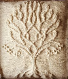 Ravelry: Project Gallery for Tree pattern by Ariel Barton Sweater Knitting Patterns, Knitting Stitches, Baby Knitting, Tree Patterns, Square Patterns, Knitted Afghans, Knitted Blankets, Knitting Projects, Doctor Whooves
