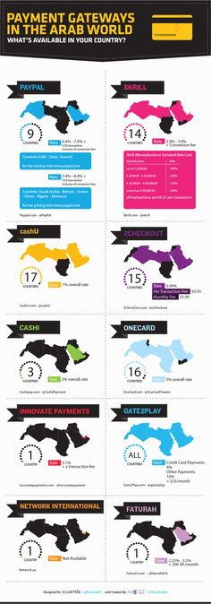 Payment Gateways in the Arab World: 2013 [Infographic] | Wamda.com