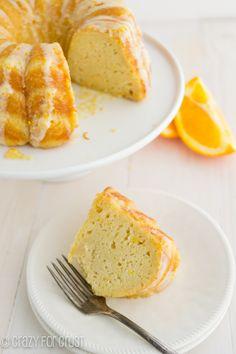 Orange Pound Cake | crazyforcrust.com | A pound cake made with greek yogurt and oranges for a zesty citrus flavor! @Ian Hahn for Crust