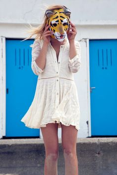 a19117198895a Well dressed Tiger Beautiful Outfits, Pretty Outfits, Shirt Dress, Dress  Up, Dress