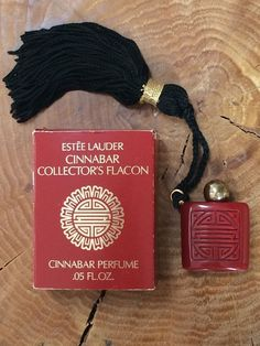 SCARCE ESTEE LAUDER CINNABAR BAKELITE COLLECTORS FLACON PERFUME with TASSEL