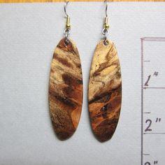 Rare Gamelia Earrings  Lightweight Long Dangle Earrings Exotic Wood ExoticWoodJewelryAnd handcrafted ecofriendly. by ExoticWoodJewelryAnd on Etsy