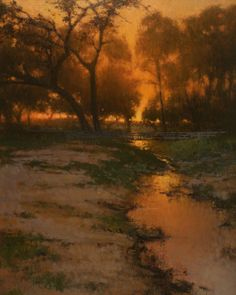 BoldBrush Painting Competition Winner - December 2010 | Sunset at Bear Ranch by Brian Blood