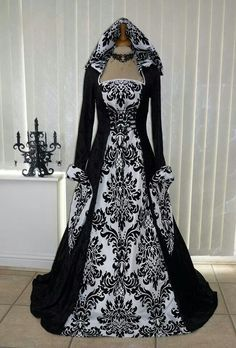 Vintage Style Gothic Dress Floor Length Women Gothic Maxi Dress Halloween Cosplay Dresses Retro Long Medieval Dress Size S Color Blue Medieval Dress, Medieval Gothic, Vintage Dresses, Vintage Outfits, Vintage Fashion, Gothic Fashion, Steampunk Fashion, Emo Fashion, Victorian Dresses